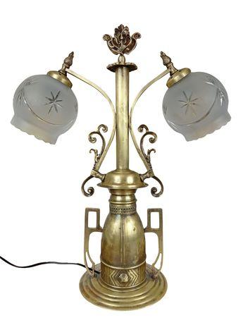 Stylowa lampa stojąca mosiężna No. 13