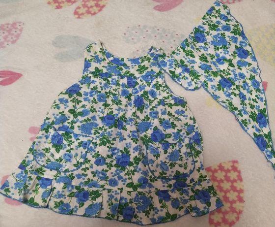 Платье цветы на 1-3 года