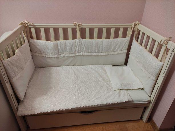 Детская кровать VERES (с маятником). + Комод