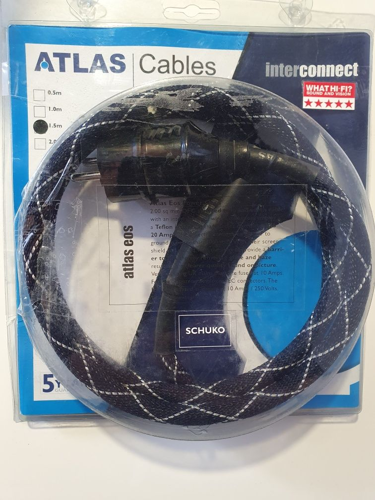 Продам силовой кабель Atlas EOS 2.0.а так же Atlas EOS