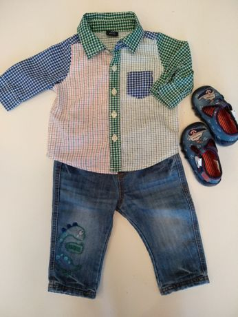 komplet koszula + spodnie r. 68 - 74