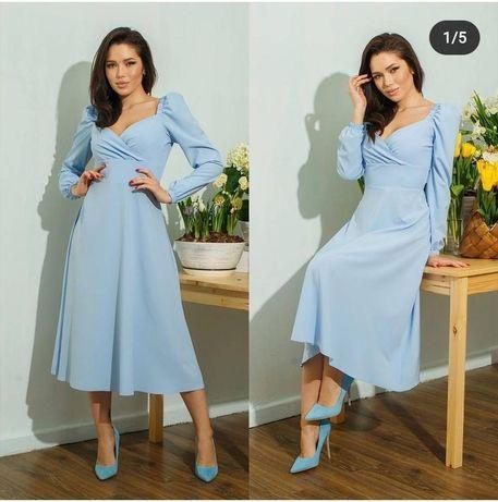 Сукня блакитна, міді
