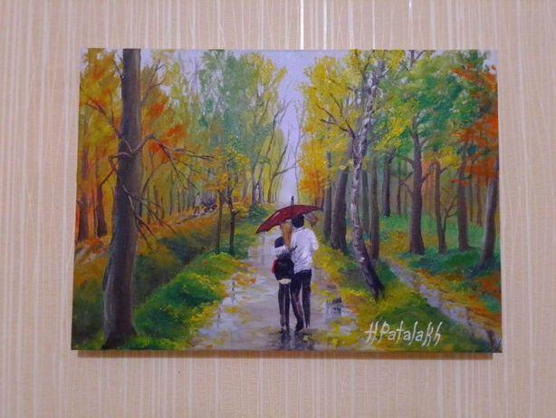 "Картина маслом ""Осенняя аллея"""