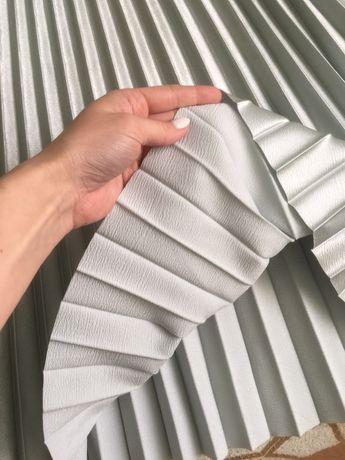 Серебристая юбка-плиссе, размер С