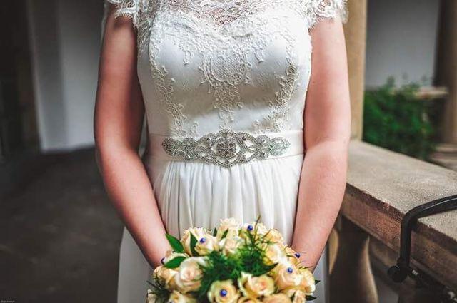 Торг. весільна сукня колір айворі/свадебное платье