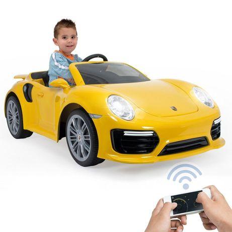 INJUSA Samochód elektryczny Porsche 911 Turbo S Special Edition Żółte
