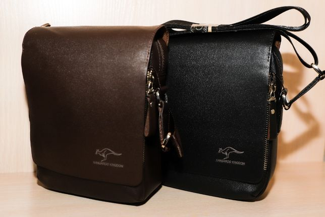 Мужская кожаная сумка Kangaroo Kingdom, чоловіча сумка. Два цвета!!!