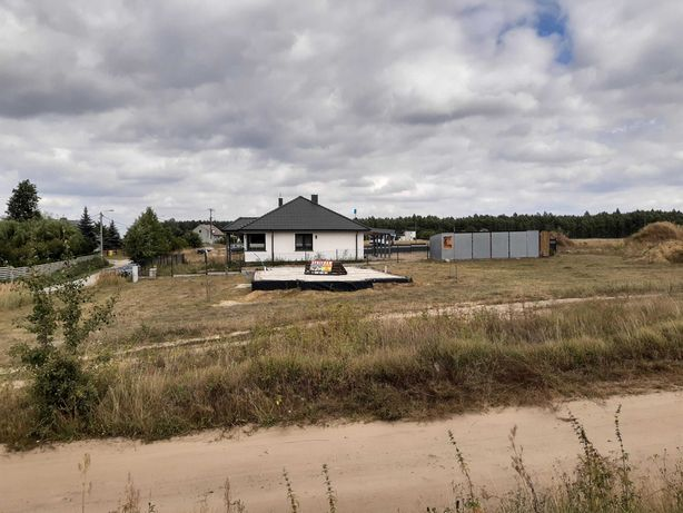 Działka 809m2 ,fundament,prąd, garaż ,projekty.Zamiana