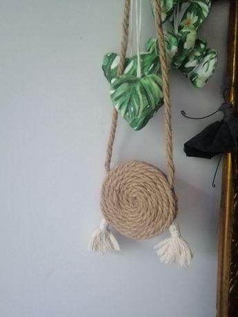 Torebka boho handmade sznurek
