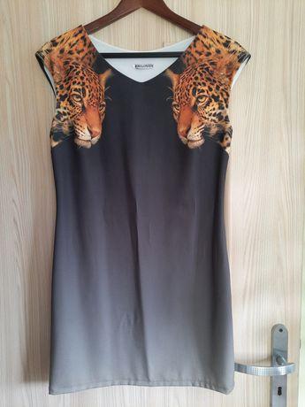 Sukienka koktajlowa ombre / tunika, pantera