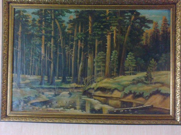 Картина маслом Корабельная роща Шишкин И.И., холст 900 х 600 мм