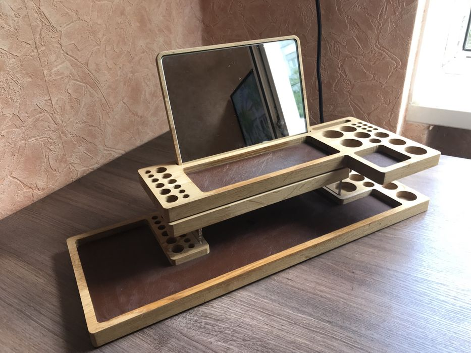 Продам деревянный органайзер(подставки) для косметики Киев - изображение 1