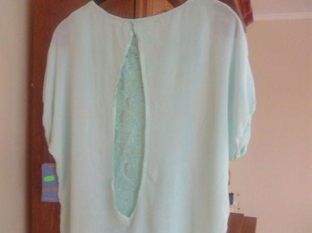Nowa bluzka damska made in Italy rozm xl kolor pistancjowy