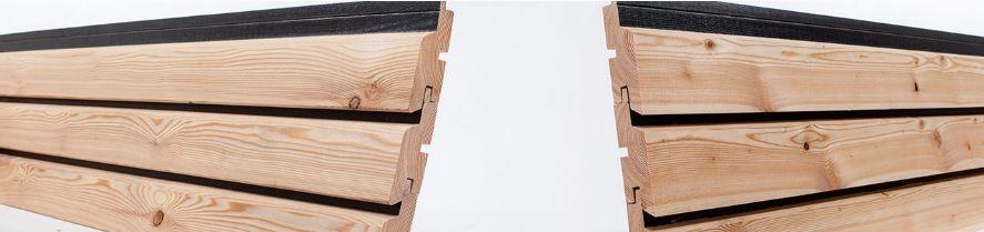 Elewacja TRENDLINER Kontrast Modrzew Syberyjski Świerzów - image 1