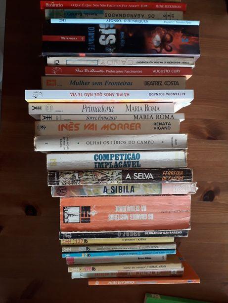 30 Livros usados de vários géneros e autores