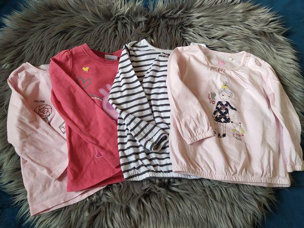 Bluzeczki dla dziewczynki rozmiar 86. Zestaw 7