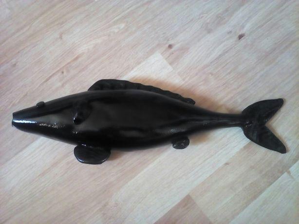 Szklana rybka z prl