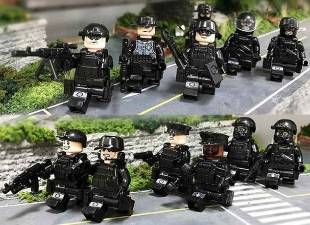 Мини-фигурки Lego SWAT военные человечки дяпчики спецназ армия полиция