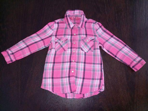 Koszula różowa w kratę