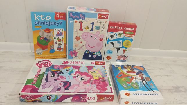Puzzle gry 3+ komplet