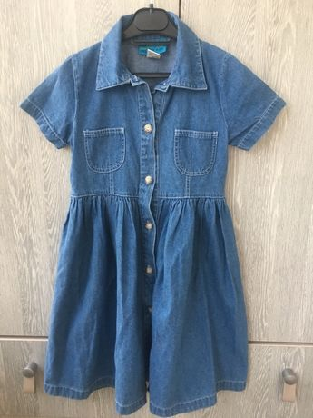 Платье джинс 116 р