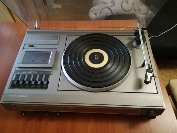 Gira discos Philips +3 discos vinil