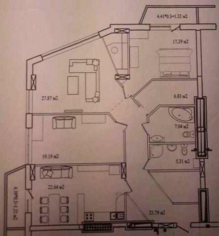 Продается квартира 130 кв.м., Черноморск, ул.Радостная 21а