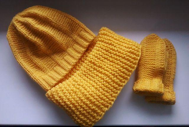 Шапка шарф шапочка снуд комплект