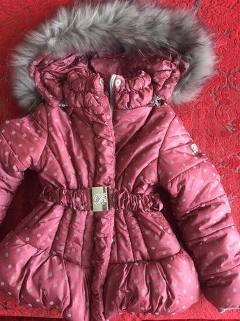 Комбинезон зимний для девочки полукомбинезон и куртка