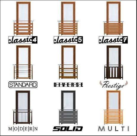 Balustrada barierka nowoczesna montaż balkon poręcz portfenetr drzwi