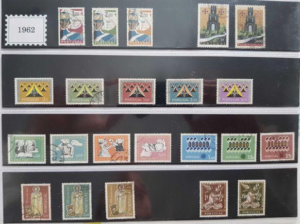 Selos de Portugal ano 1962