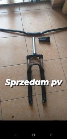 Amortyzator 100mm, kierownica, mostek, komplet kół
