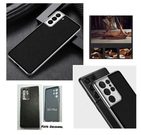 Capa Rigida T/ Couro C/ Chapeamento P/ Samsung S21 Ultra -Nova- 24h