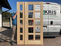 Drzwi dwuskrzydłowe drewniane sosnowe DOSTĘPNE OD RĘKI CAŁY KRAJ