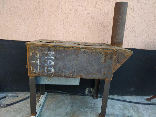 Плита переносна твердопаливна металева