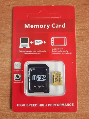 Карта памяти флешка 32 GB Class 10 Micro SD TF Card Симсоны Simpsons