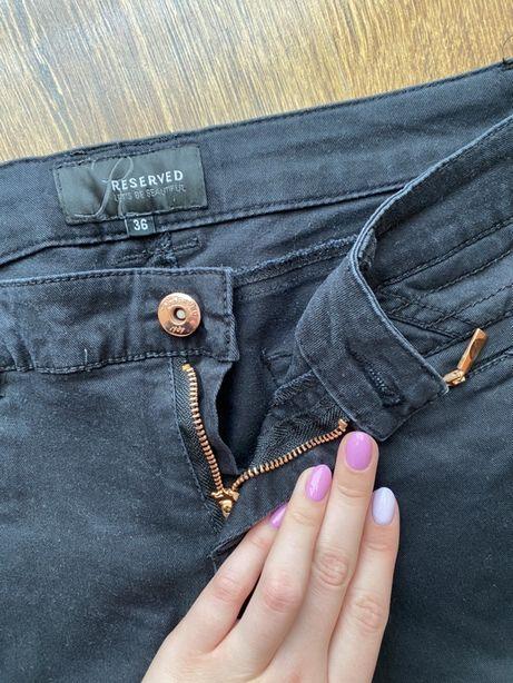Czarne damskie spodnie, rozmiar 36