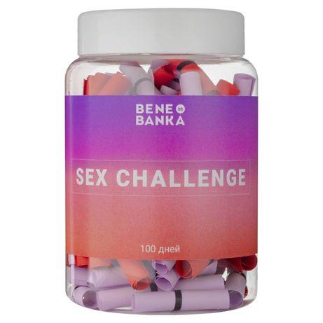 Баночка с записками Sex challenge (русский язык)