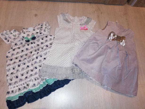 Sukienka 3szt coccodrillo i smyk roz 74