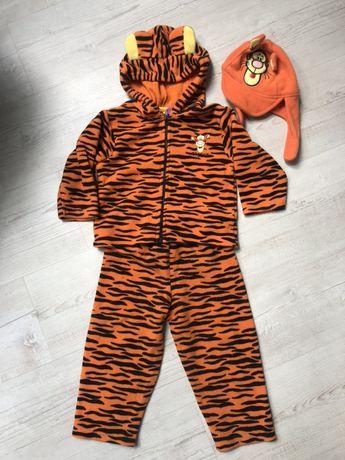 Komplet tygrysek spodnie bluza czapka 18miesiecy