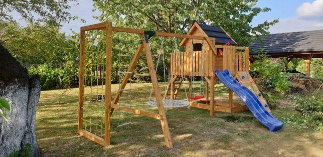 Cudowny zestaw piękny domek drewniany plac zabaw komplet WYPRZEDAŻ