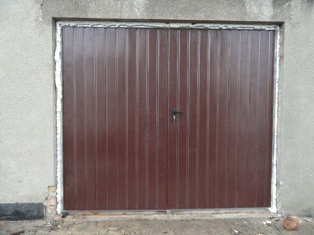 Brama 235x205 dwuskrzydłowa garażowa brąz antracyt Dostawa Gratis