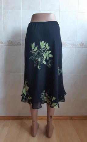 Летняя длинная чёрная юбка