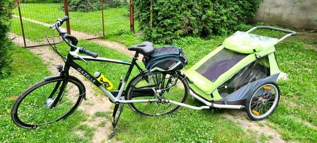 Przyczepka rowerowa croozer na dwoje dzieci/do biegania/spacerówka 3w1