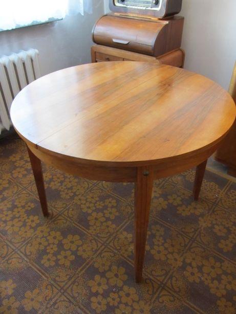 Stół drewniany rozkładany lata 60 PRL antyk vintage