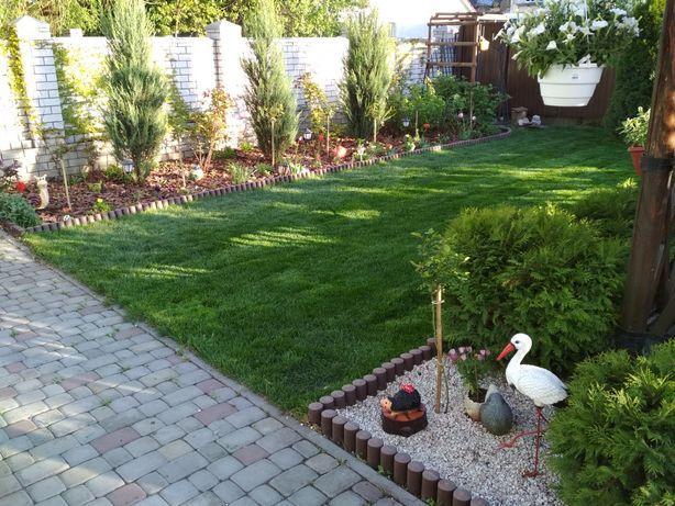 Озеленение и благоустройство. Укладка рулонного газона.