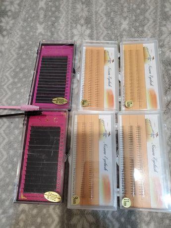 Наборы для наращивания ресниц natural mink lashes