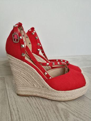 Sandały espardyle, czerwone
