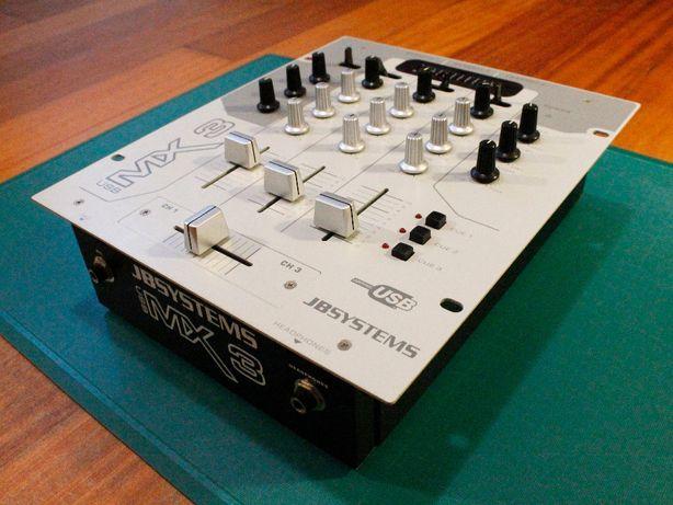 Mesa de mistura DJ 3 canais USB - JB Systems MX 3