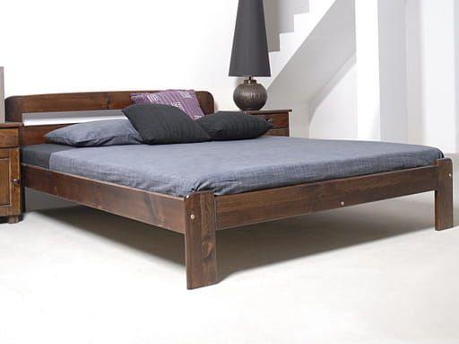 Meble Magnat łóżko drewniane sosnowe Sara 140x200 orzech